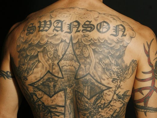 Cub Swansons Tattoos Paint A Portrait Of His Life