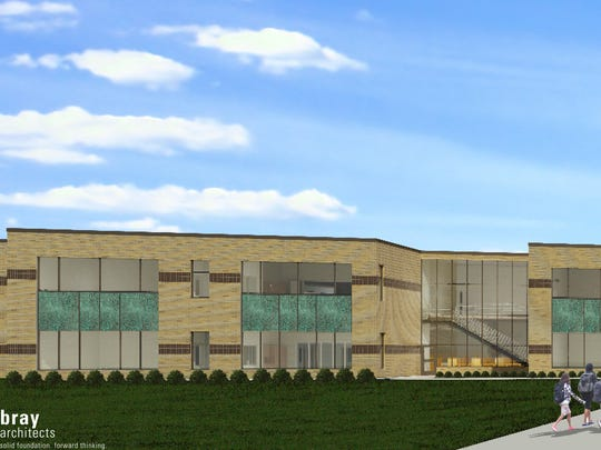 An architect's rendering by Bray & Associates shows the future campus of the North Fond du Lac School District after completion of upcoming remodeling and construction projects, supported by a $29.5 million referendum passed in April 2017.