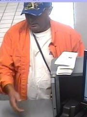 The suspect in three bank robberies.