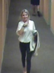 Bloomington police released a photo of Lauren Spierer on June 15, 2011. It was taken by a video surveillance camera in her apartment building on the night she disappeared.