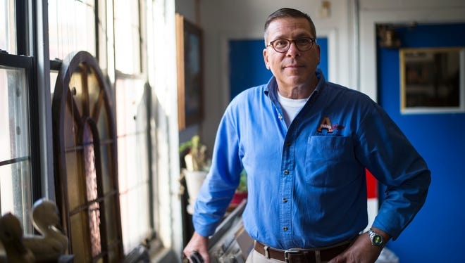 Darrell Dunlap, owner of A Frame Shoppe, at 320 Water St. in Binghamton.