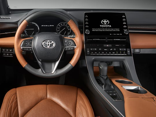 The interior of the 2019 Toyota Avalon Hybrid.
