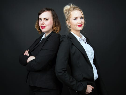 Célèste Fohl, left, and Kelly Collette, co-wrote the
