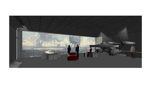 Preview museum architectural rendering by architectural firm Imarchination.