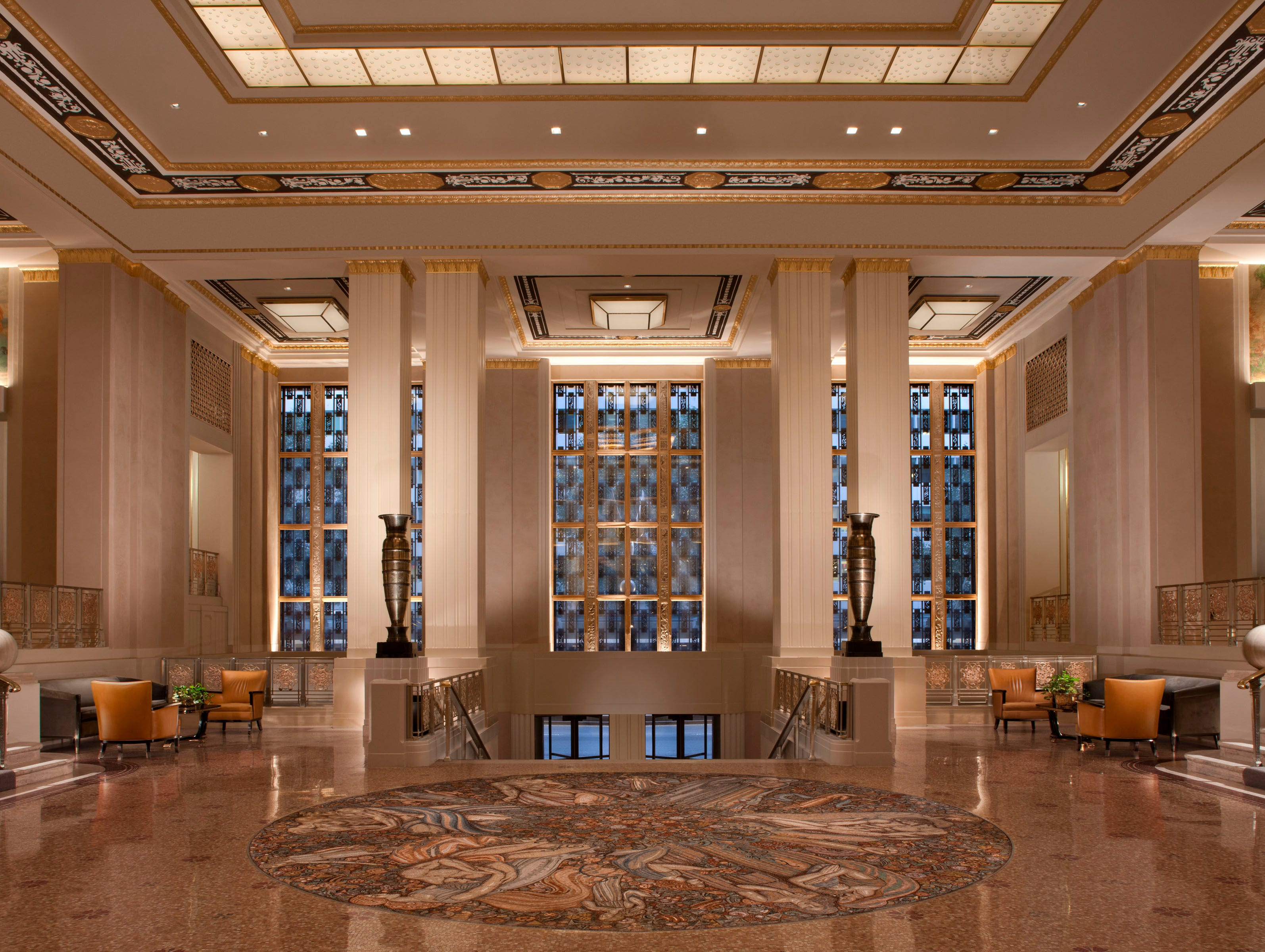 The famed Waldorf Astoria Hotel in New York City recently renovated its Park Avenue lobby, emphasizing clean lines, geometric patterns and a lighter feel.