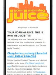 The new dmJuice Your Morning Juice newsletter