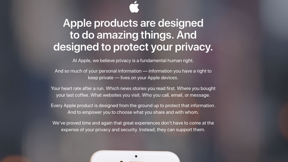 Apple's privacy section of its website
