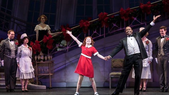 """Cast members performs in """"Annie"""" at the Ordway Center for the Performing Arts."""