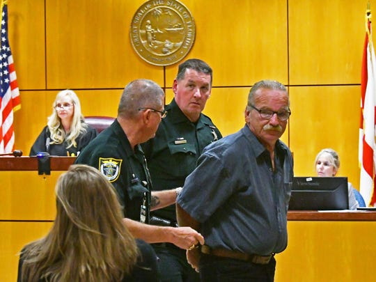 The sentencing of James and Lisa McDermott by Circuit Judge Morgan Laur Reinman in Viera. James was sentenced to over 34 months, and made it clear to the court that his wife Lisa was in no way involved in the stolen goods being sold on eBay activities that got him arrested, and he told her he loved her as he was led out of the courtroom. Lisa was then sentenced to one year probation.