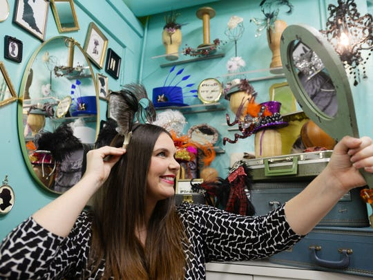 Kendall Morehart's Fascinator hats are all unique. She custom-makes orders to meet customers' requests.