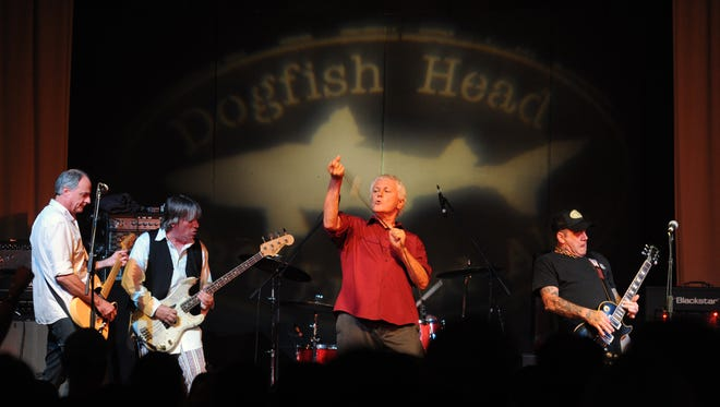 "Guided by Voices performing at the beer release party for the new Dogfish Head brew Beer Thousand. The beer is tied to the 20th anniversary of Guided by Voices' album ""Bee Thousand."""