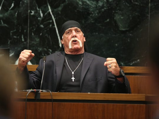 Hulk Hogan, whose given name is Terry Bollea, testifies