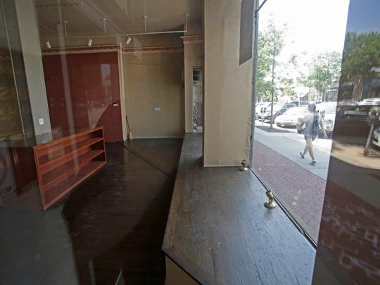"An empty store that is available for rent at 65 Pondfield Road in Bronxville.  In the rapidly changing retail world, ""for rent"" signs started showing up in Bronxville's downtown. Mayor Mary Marvin urges residents to shop local to support local merchants, saying that ""everybody will benefit."""