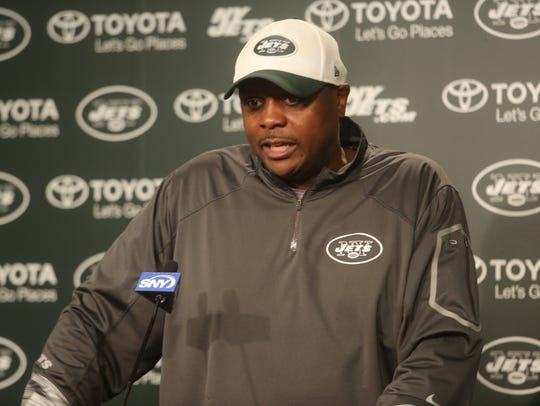 Jets defensive coordinator Kacy Rodgers addresses the