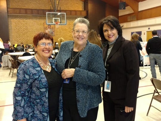 Sheri Hamarlund, left to right, Cathy Pines and Odette Yapor.