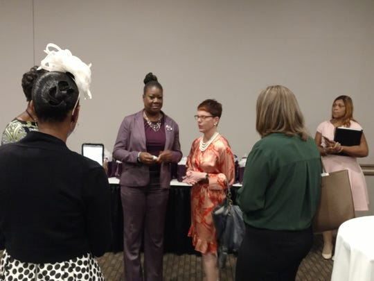 Sybrina Fulton and YWCA Women's Luncheon table captains