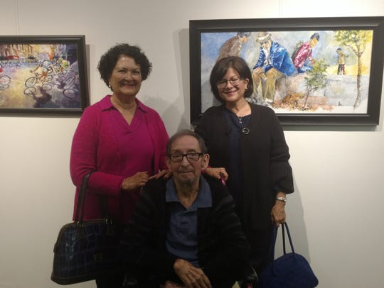 Alice and Richard Parra and Helen Molarski in front