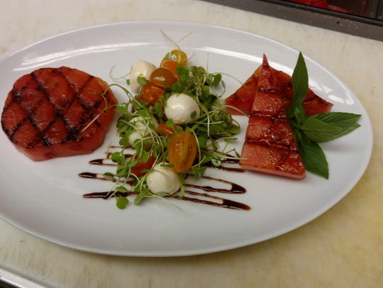 Grilled watermelon caprese from Abbott's Grill