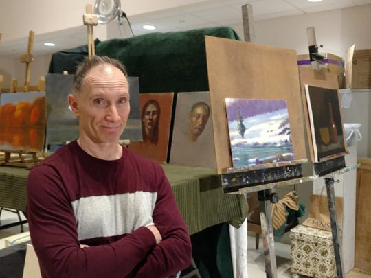 David Buckbinder will offer an oil painting/drawing