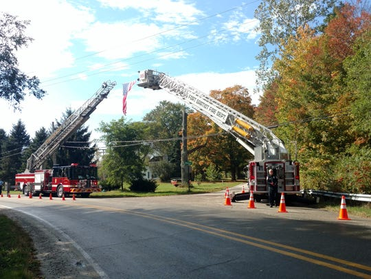 Fort Gratiot and Port Huron Township aerial fire trucks
