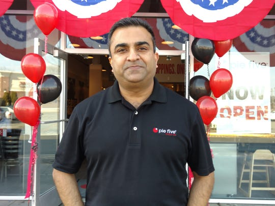 Dinesh Goswami launched his second Pie Five Pizza Co. on Route 18 South in Summerhill Square on Feb. 19. The multi-unit franchisee opened the first Garden State Pie Five fast-casual restaurant on Route 27 in Kendall Park in January.