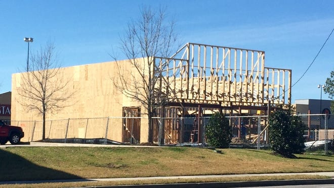 A Freddy's Steakburgers is being built in front of Rouse's Market on Bertrand Drive.