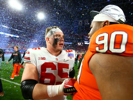 Ohio State center Pat Elflein, a first-team All-American and the Rimington Award winner, is the lone senior starter the Buckeyes are losing.