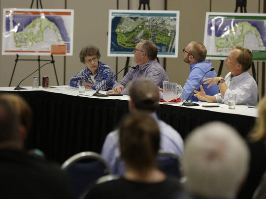 Oshkosh Plan Commissioner Thomas Fojtik talks Wednesday, Oct. 4, 2017, during a joint meeting with the Parks Advisory Board at the Oshkosh Convention Center.