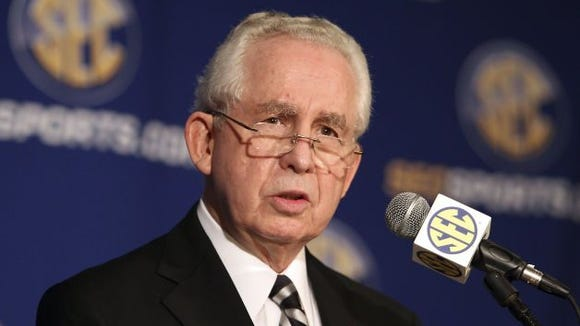 SEC Commissioner Mike Slive gave opening statements to begin the conference's Media Days on Monday.