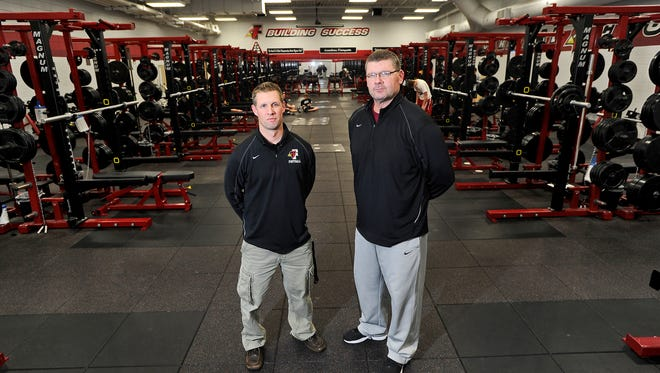 Steve Jorgensen, right, will take over as head football coach at Fond du Lac after Mike Gnewuch, left, took the head coaching job at Mukwonago.