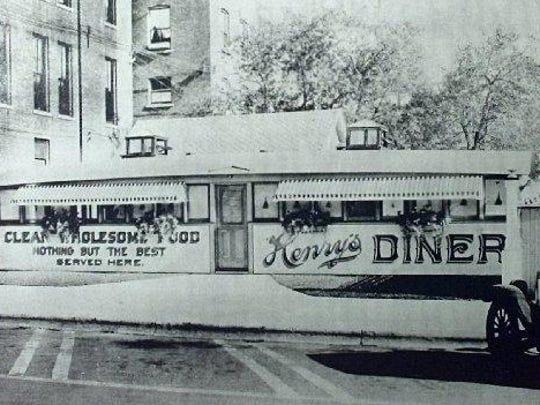 Henry's Diner in the 1920s. It is still in business on Bank Street in Burlington.