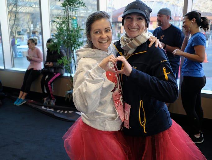 Ashlee Bushee and Nichole Landers celebrate Valentine's