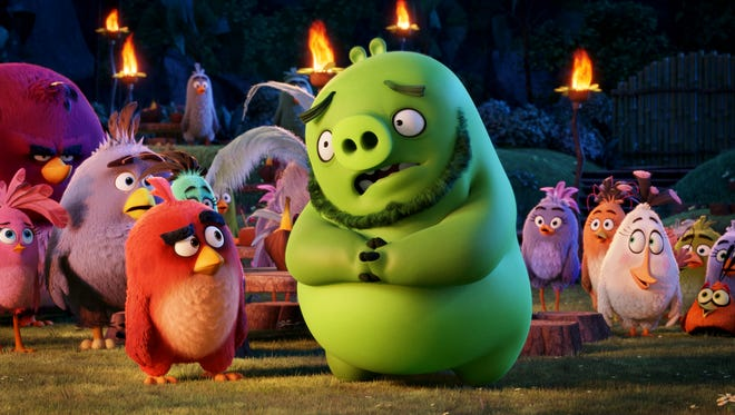 "This image released by Sony Pictures shows a scene from ""The Angry Birds Movie."" (Sony Pictures via AP)"