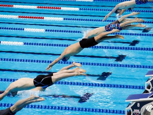 Brennan olympic swimming trials bring heartbreak intensity - Olympic swimming starting blocks ...