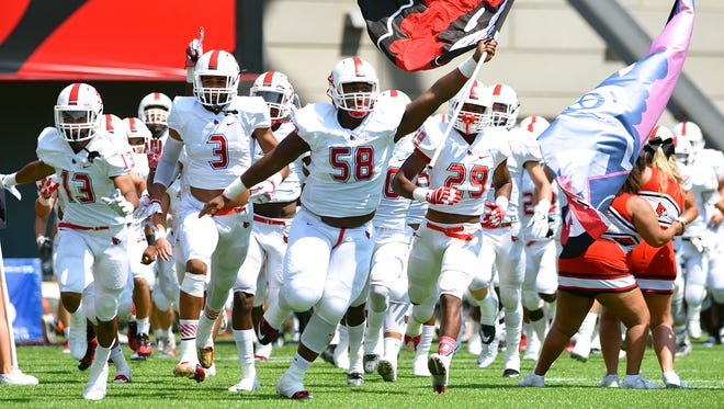 The Colerain Cardinals take the field Saturday afternoon at Nippert Stadium.