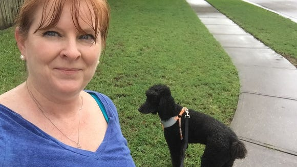 Earl and I got caught in the rain as we took a walk Thursday afternoon around our Rockledge neighborhood.