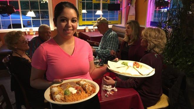 Server Imelda Zepeda at El Paraiso Mexican Restaurant in Anderson.