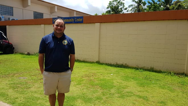 Sinajana Mayor Robert Hofmann stands in front of the Sinajana Community Center on July 10, 2018. The Central Community Arts Hall will be built at the site.