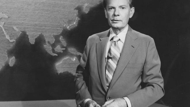 "David Brinkley, as seen in 1981, when was working with ABC News as the anchor of ""This Week With David Brinkley."""