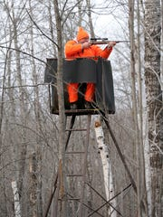 Hunter in a deer stand