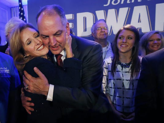 John Bel Edwards, Donna Edwards, Sarah Ellen Edwards