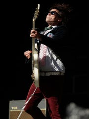 James Alex of Beach Slang performs during at the Splendour in the Grass festival in Australia last month.