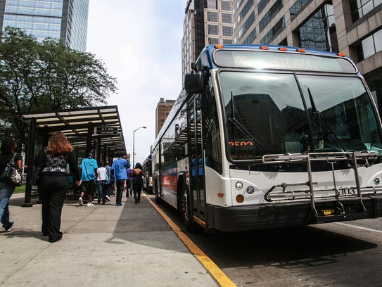 An IndyGo bus is cheap, but hours are limited.