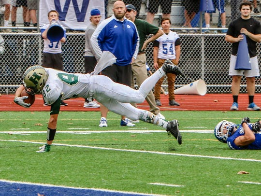 Howell's Logan Russo caught seven passes for 86 yards