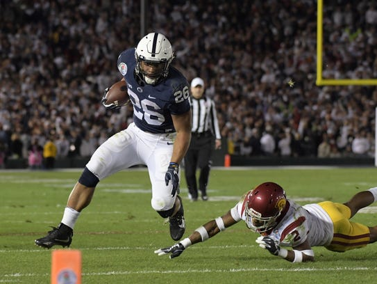 Penn State's Saquon Barkley out runs Southern California