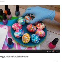 Easter eggs and nail polish