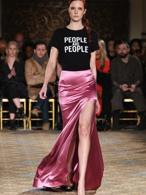 Siriano's Depeche Mode-inspired t-shirt was one of the day's best looks.