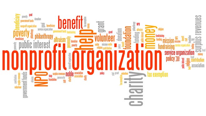 Nonprofit organizations issues and concepts word cloud illustration.