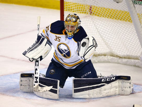 Linus Ullmark played 20 games for Sabres last season;