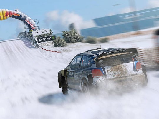 WRC 6 features racing in the white stuff, as well.
